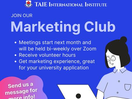 Marketing Club is Back!