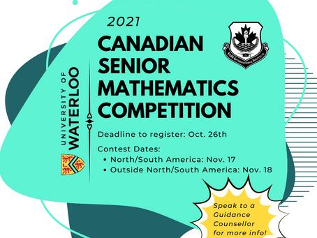 Waterloo's Canadian Senior Mathematics Competition