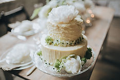 A wedding cake, one of extra services we offer for your wedding in Denmark.