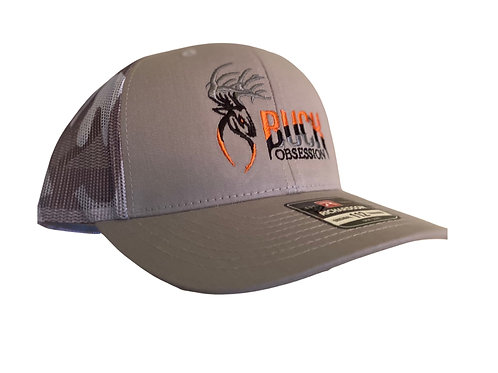 Buck Obsession Trucker Mesh White Camo Cap