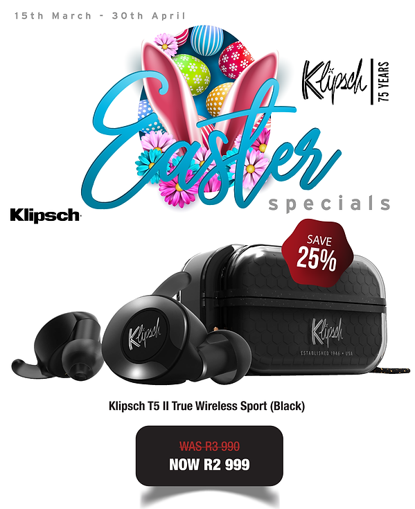 Klipsch T5 II True Wireless Sport (Blk)