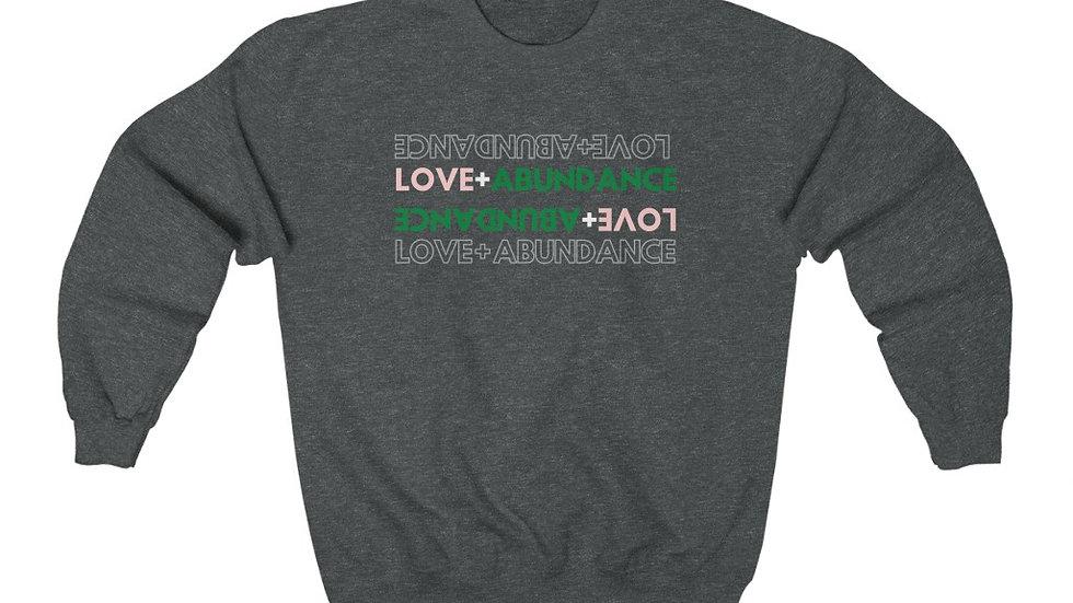 Love and Abundance Classic Crewneck Sweatshirt