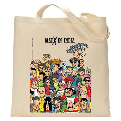 Made in India Tote Bag ( Coloured)