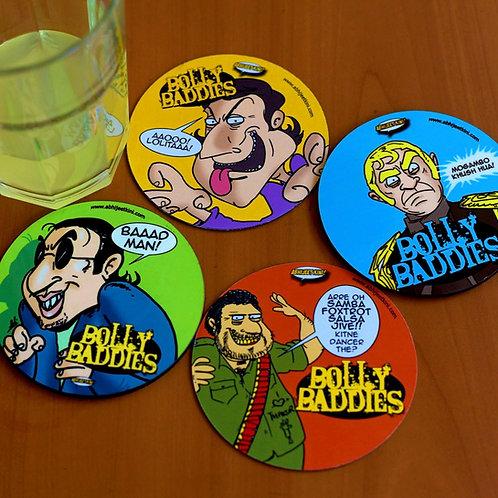 Bollywood baddies coasters
