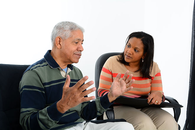 Person in need having a counseling sessi