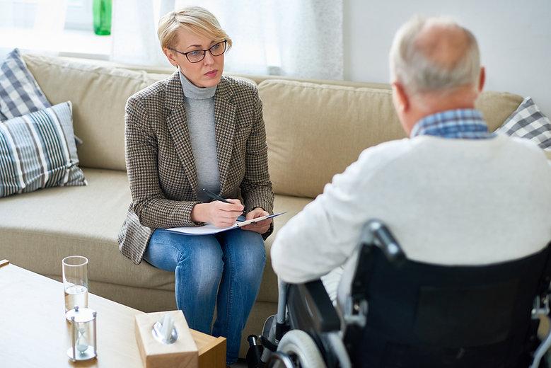 Portrait of mature female psychiatrist i