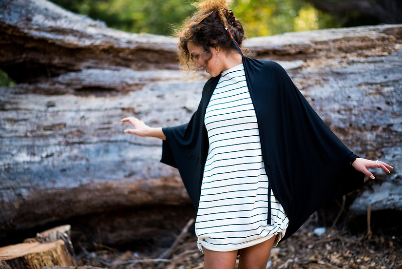 My Winter Dress | Organic Cotton Fleece | W&B Stripes