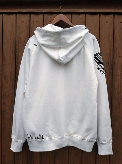 Eco Winter | Organic Cotton Hoodie  | Handpainted