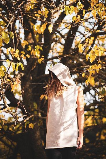 Hoodie Bear | Organic Cotton Fleece Sleeveless Hoodie