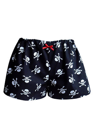 Skull Print Pyjama Shorts