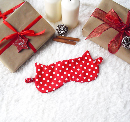 Red Polka Dot Sleep Mask
