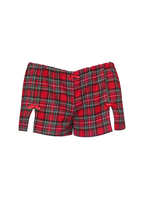 Red Tartan Pyjama Shorts