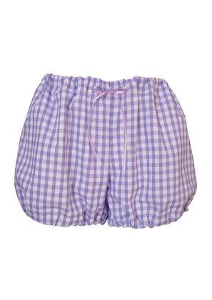 Gingham Bloomer Style Pyjama Shorts