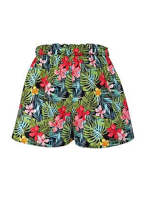 Tropical Print Beach Shorts
