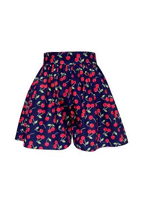 Cherry Print Skirted Shorts