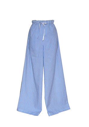 Gingham Wide Leg Pyjama Bottoms