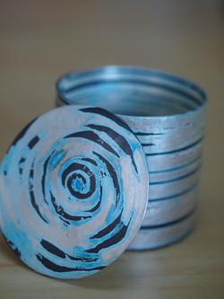 Silver and gilding metal pot