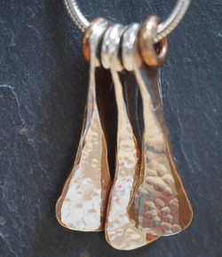 Silver and gilding metal necklace