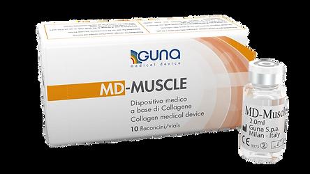 Opakowanie kolagenu do mezoterapii MD-Muscle z fiolką bez tła