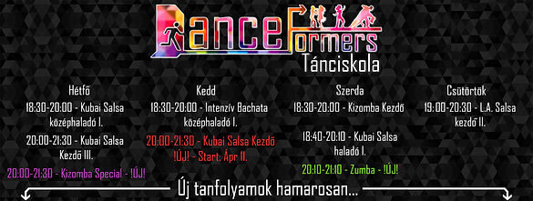 DanceFormers órarend