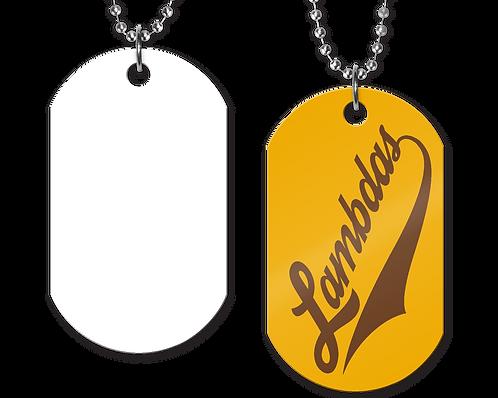 Lambdas Gold Tag