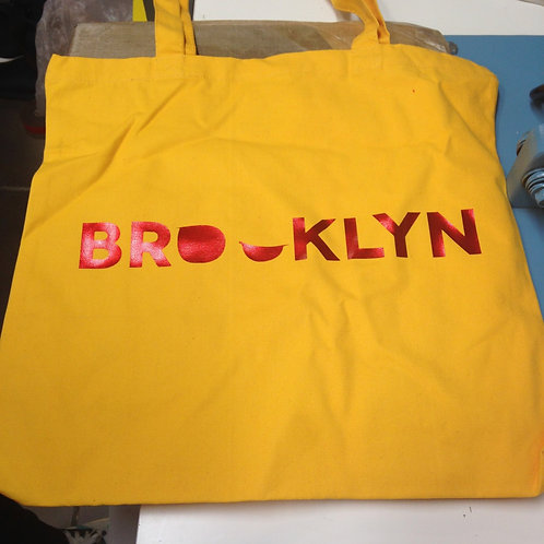 Addictedesigns Brooklyn Yellow and Metallic Red Tote