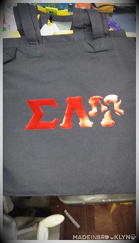 SLU Symbol Red on Black Tote