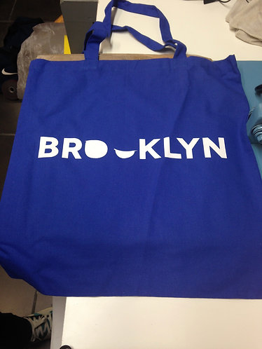 Addictedesigns Brooklyn Blue and White Tote