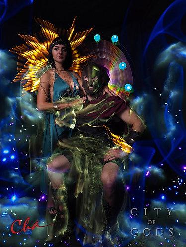 Cha - City of Gods Aluminum Portrait Prints as Pendant or Magnet