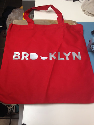 Addictedesigns Brooklyn Red and Silver Tote