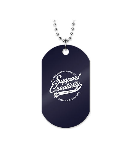 Solid Navy Logo Dogtag