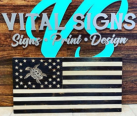 Custom Carved Flag