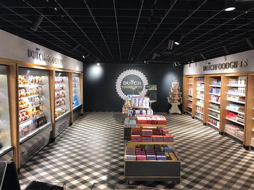 Binnen Dutch Foodgifts schiphol
