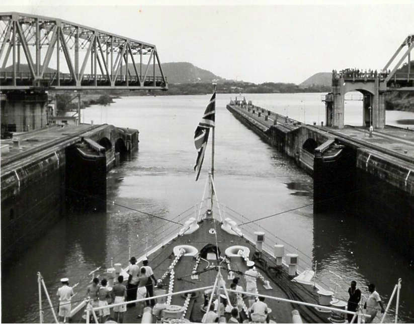 Moving through the Panama Canal 2