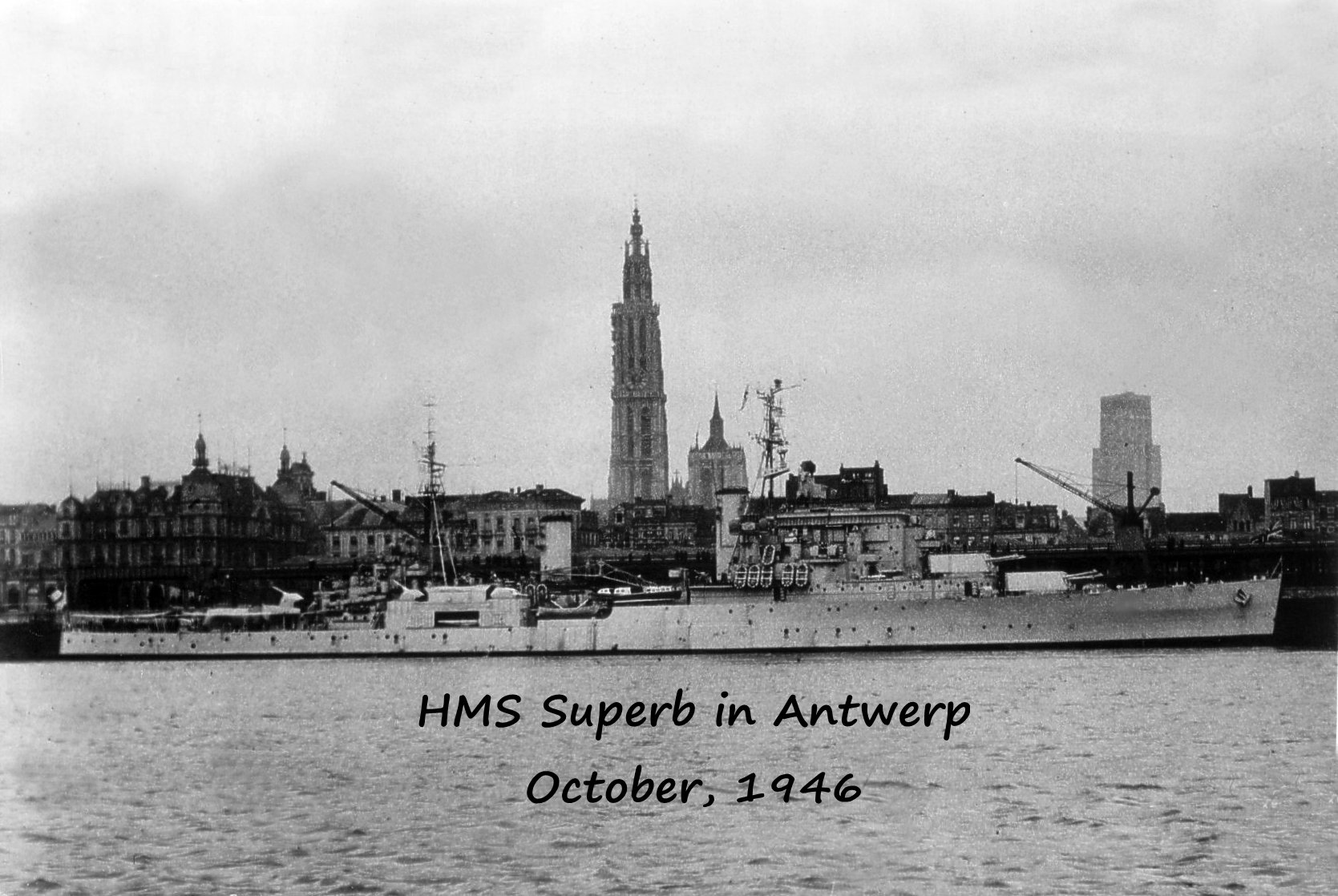 HMS Superb in Antwerp