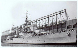 HMS Superb dock at Pier 92, New York