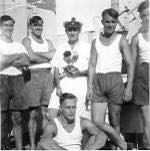 The all conquering Communication whaler racing crew, with only half of me in the pic.George Salmon