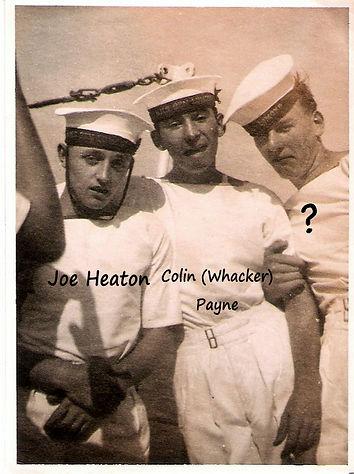 Joe Heaton on bopard HMS Superb