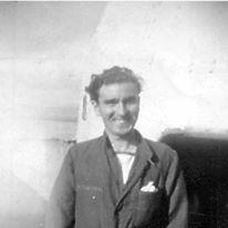 Mickey Thornton on board HMS Superb