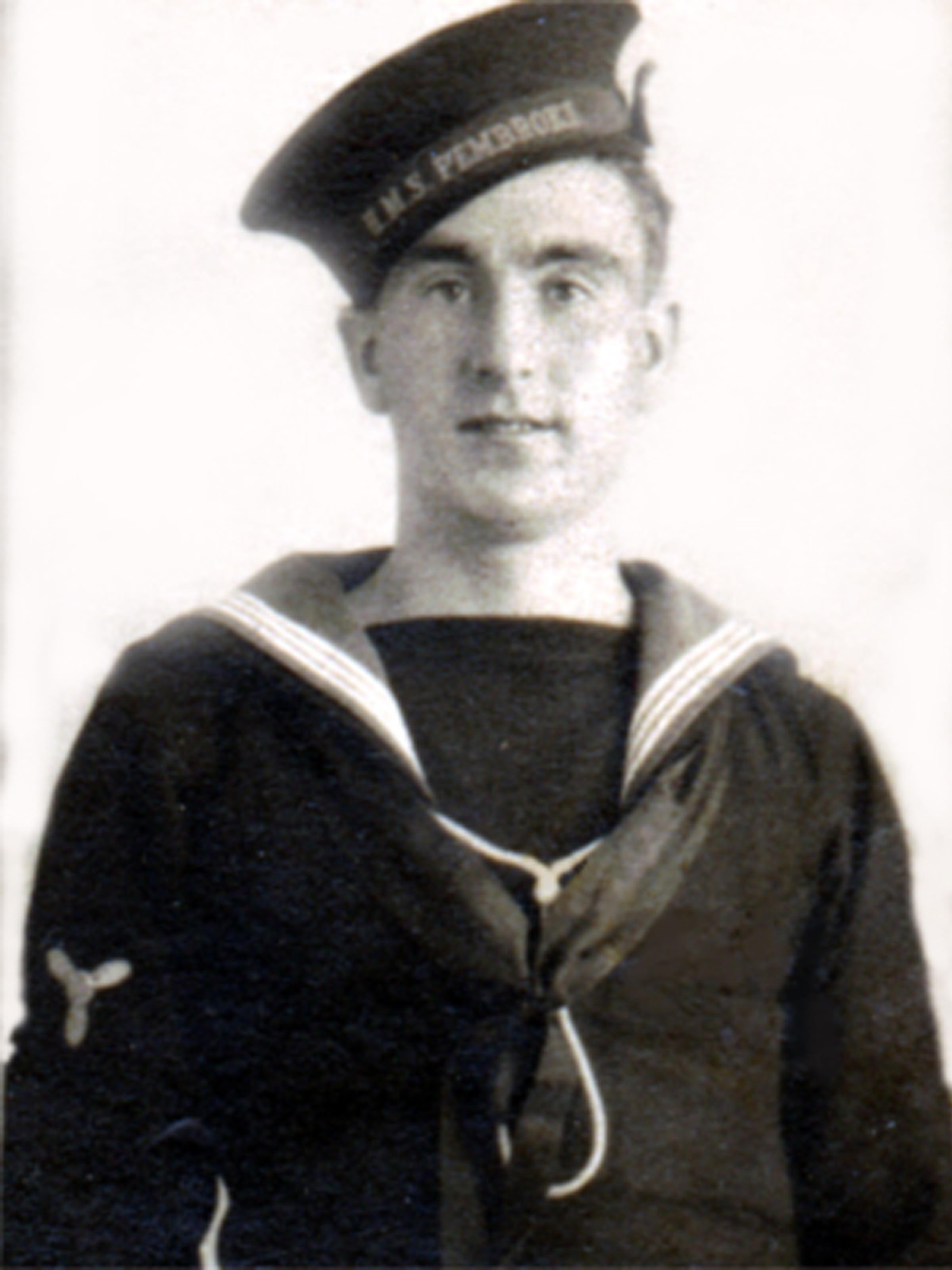 Mickey Thornton in uniform  on joining