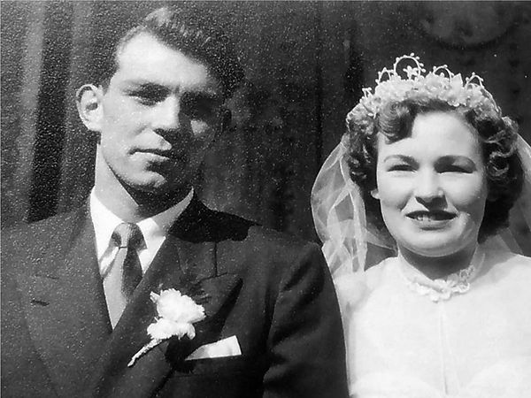 Gerry on his wedding day 1955
