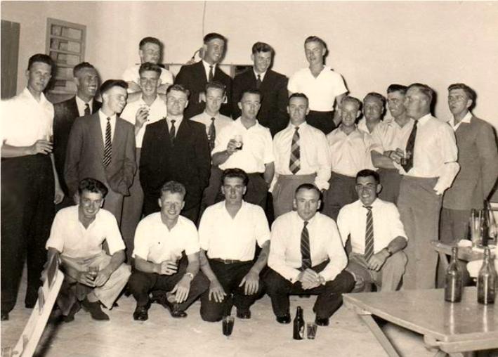 James Johnstone kneeling front row right