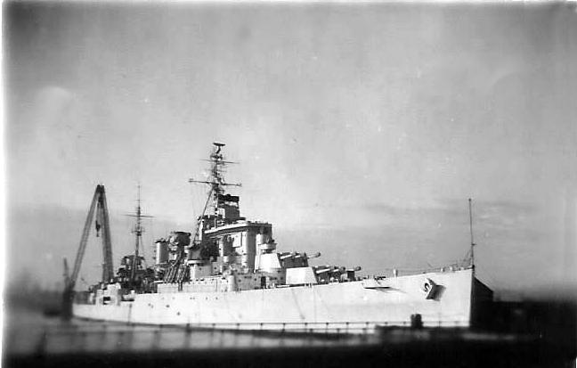 HMS Superb in Copenhagen