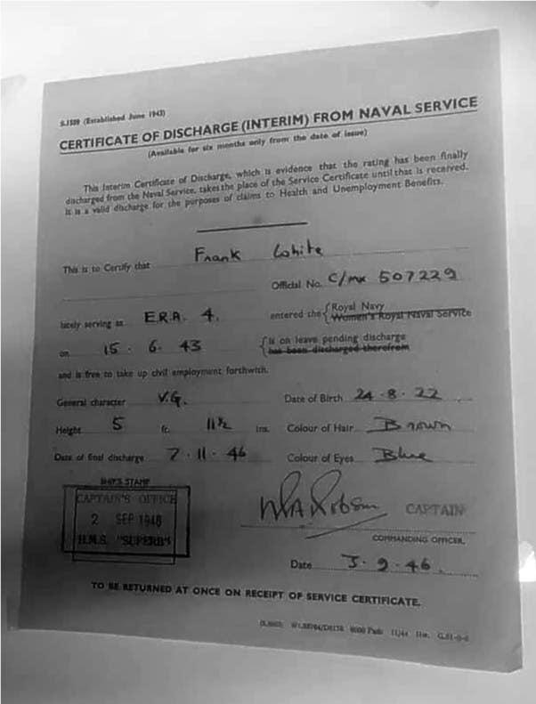 Certificate of Discharge