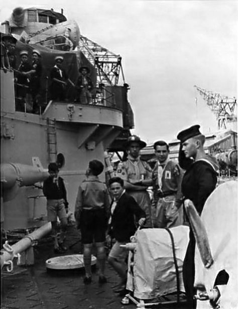 November, 1950 Gibralter Scouts visiting