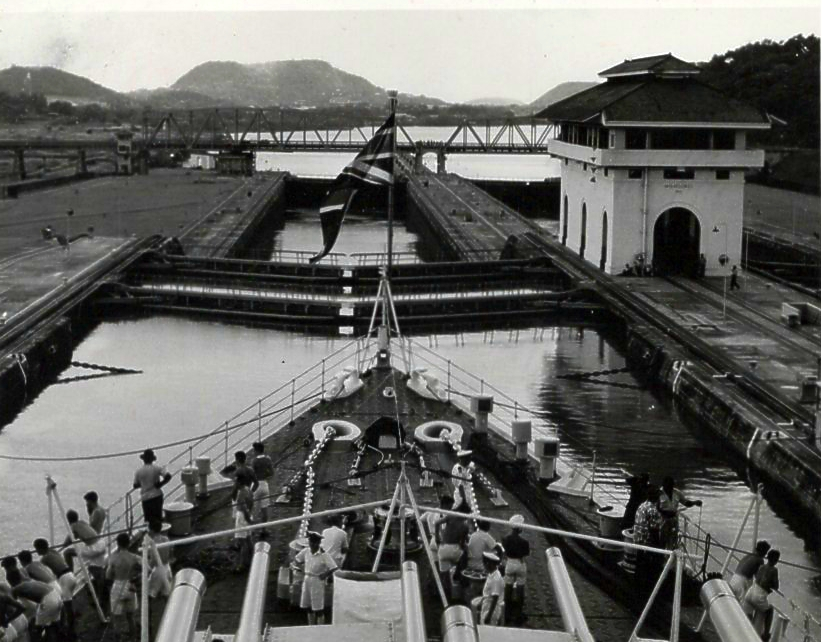 Moving through the Panama Canal 1