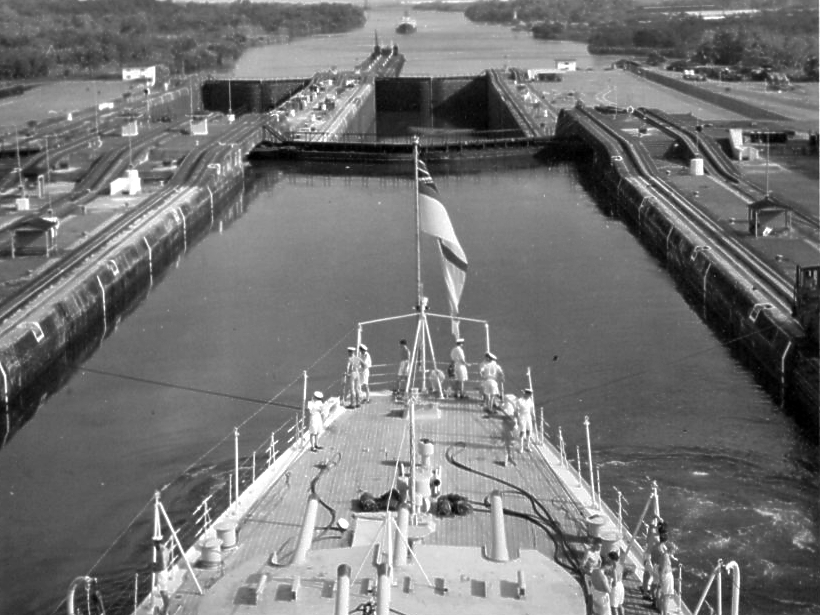 Moving through the Panama Canal 5