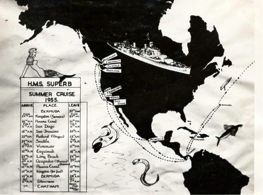 Summer Cruise map