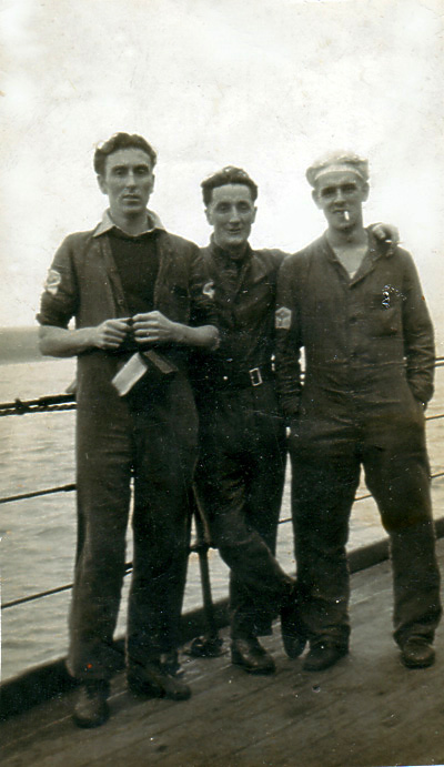 Mickey Thornton and Friends on ship
