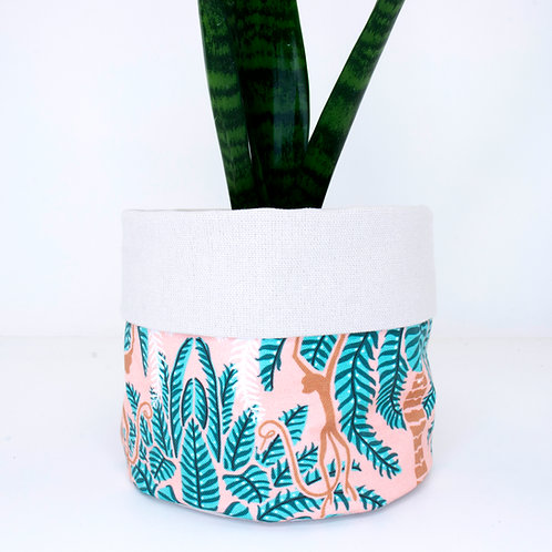 PLANTER | Palm Trees & Monkeys | 14cm